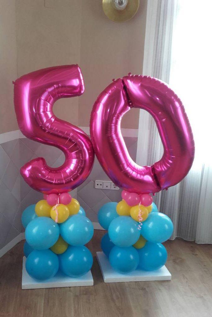 Globos cincuenta cumpleaños