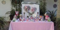 Decoración rosa boda