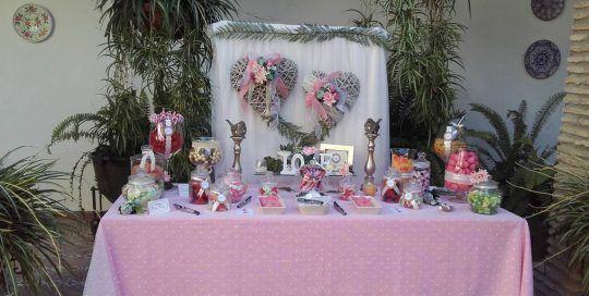 Decoración rosa boda