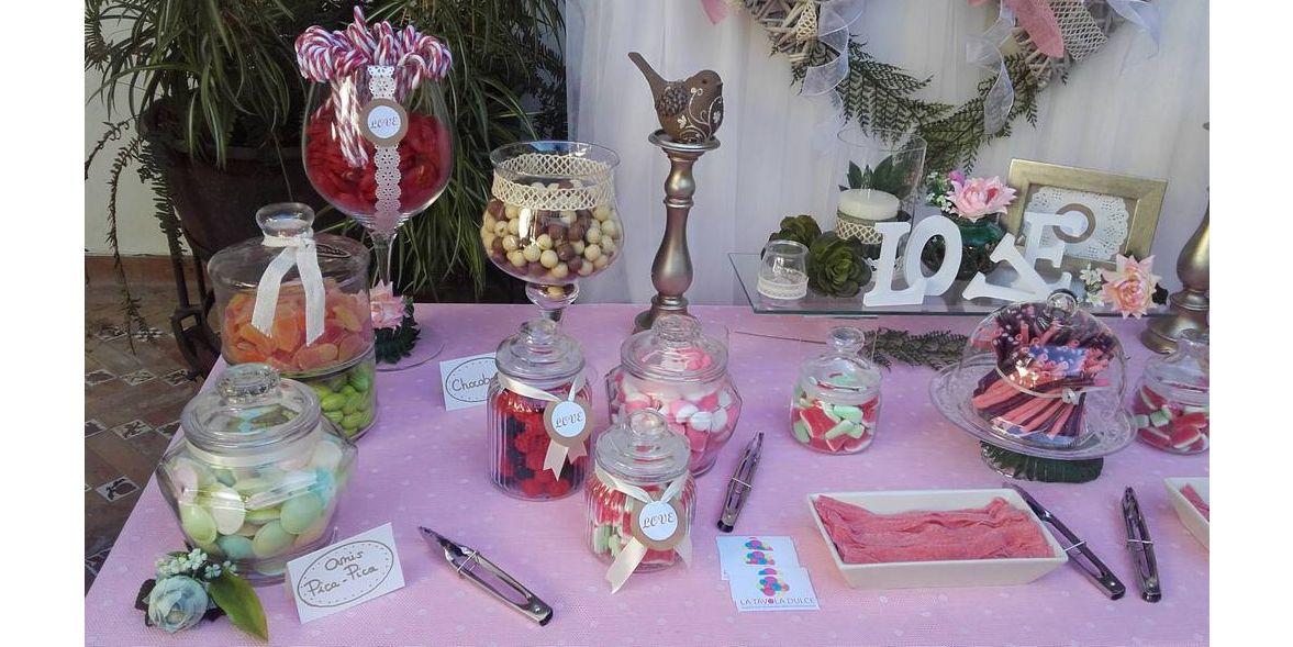 Candy bar rosa boda