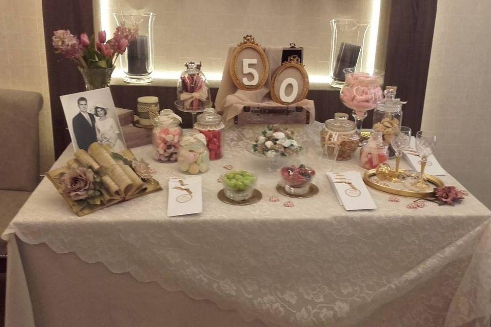 Decoración bodas 50 años