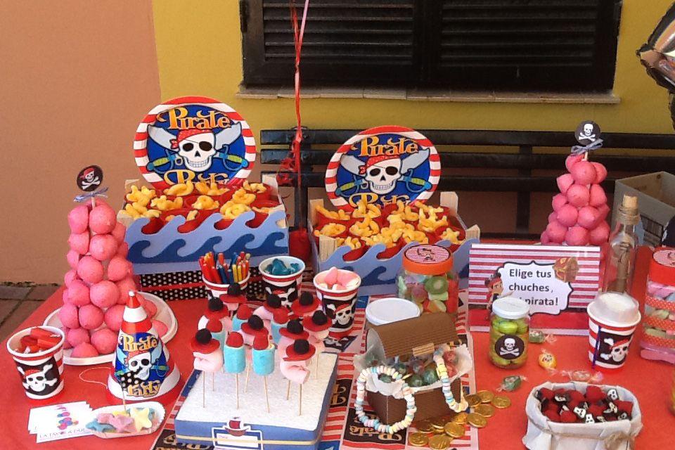 Decoración para fiesta pirata