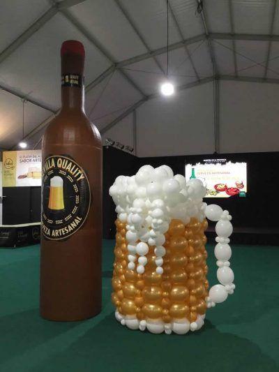 Globos de cerveza para evento