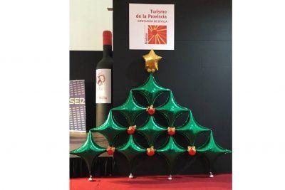 Globos árbol navidad