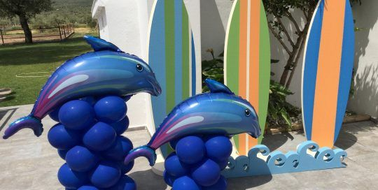 Globos Delfines y Surf